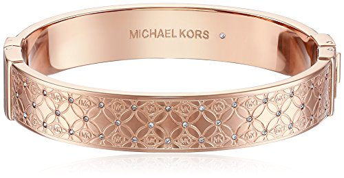 Michael Kors MKJ4472 Rose Gold Monogram Bangle Bracelet