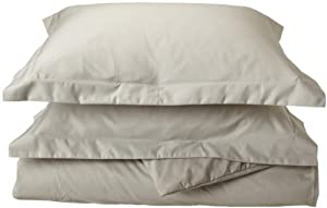 600 Thread Count Cotton Rich Solid Duvet Cover Set Size: Full / Queen, Color: Stone