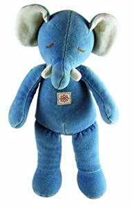 "Eco Friendly Miyim Storybook Collection Plush 11"" Blue Elephant"