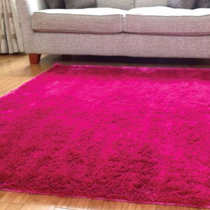 Splendour Bright Pink Girls Splendour Shadow Rug Large 160x220cm Lounge Bedro