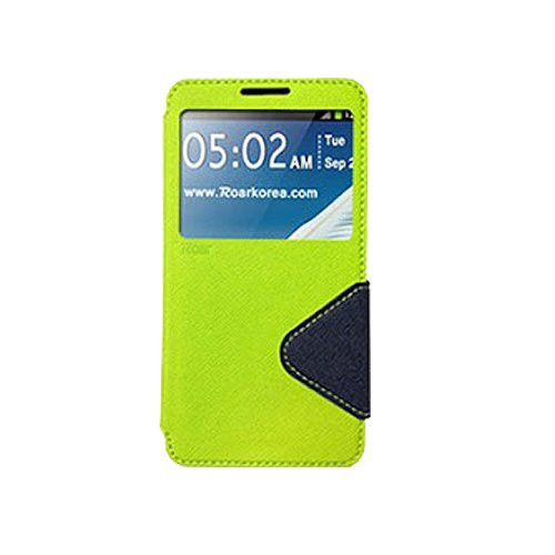 Galaxy S4 ケース Roar Standing View Diary Case ギャラクシー S4 手帳型 ビュー フリップ ケース グリーン・ネイビー(Green/Navy) / SC-04E 携帯 スマホ スマートフォン モバイル ケース カバー ダイアリー 手帳 ケース バンパー カード 収納 ポケット スロット スタンド
