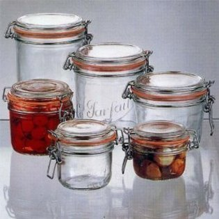 Le Parfait French Wide Mouth Glass Canning Jar with 70mm Gasket and Lid 7 Oz, 200 Grams (7 Ounce Glass Jar compare prices)