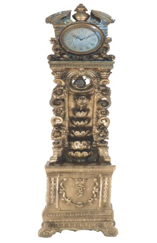 French Furniture Grandfather Fountain Floor Clock Water Fog Mist Maker,led Light Home Room