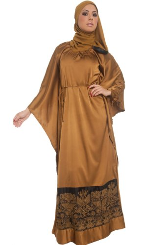 Womens Leyla Formal Long Islamic Maxi Dress with FREE Islamic Wrap Hijab