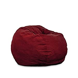 Berry Plush Beanbag Chair - Full Sleeper by CordaRoy's