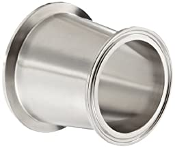 Dixon B3114MP-G300250 Stainless Steel 304 Sanitary Fitting, Clamp Concentric Red Fiberglassucer, 3\