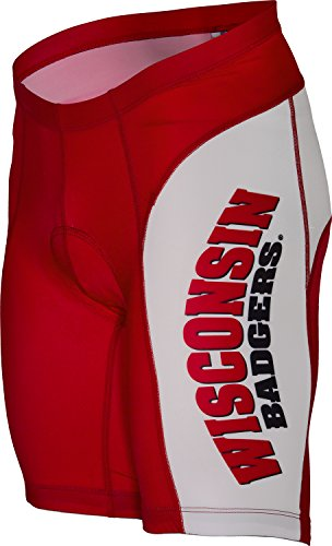 NCAA Unisex Adult Wisconsin Badgers Cycling Short (Medium) (Wisconsin Cycling Jersey compare prices)