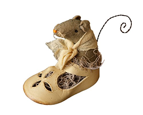 Your Hearts Delight Nesting Shoe Mouse Decor, 2 by 4 by 3-1/2-Inch