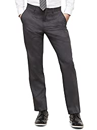 Kenneth Cole REACTION Men's Grey Solid Suit Separate Pant, Grey, 36W x 30L