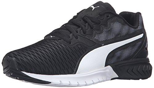 PUMA Women's Ignite Dual Wn's Running Shoe, Puma Black/Puma White, 7.5 M US