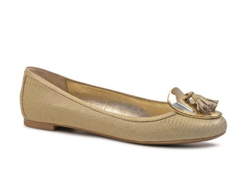 Dolce & Gabbana Women's Nude Leather Ballerina - Moccasin Shoes - Size: 41 IT