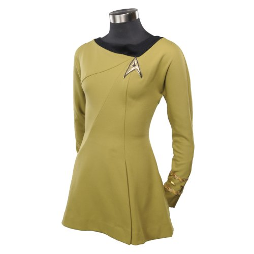 Anovos Star Trek Original Series Gold Captain Dress, X-Small