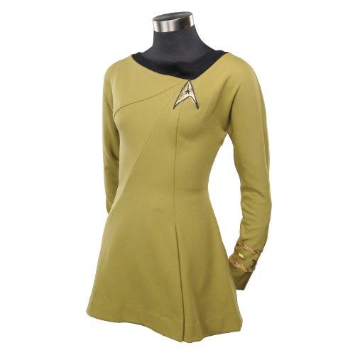 Anovos Star Trek Original Series Gold Captain Dress, X-Small