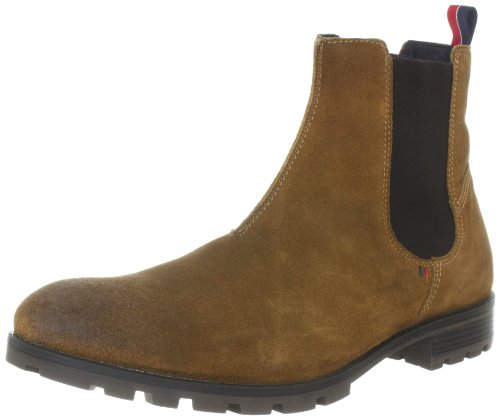 Tommy Hilfiger Men's CARLOS 8B Chelsea Boots FM56814750 Cognac/Coffee 10.5 UK