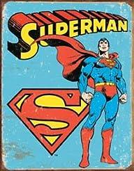 Superman Distressed Retro Vintage Tin…