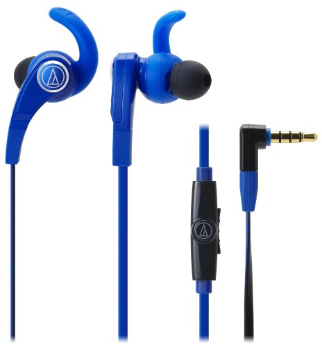Audio-Technica Sonicfuel In-Ear Headphones For Smartphones With In-Line Mic & Control Ath-Ckx7Is Bl (Blue)