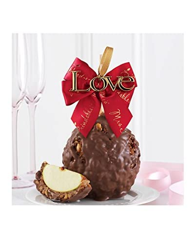 Mrs. Prindable's Milk Chocolate Walnut Pecan Jumbo Apple with Love Ornament