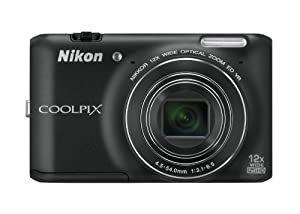 Nikon COOLPIX S6400 16 MP Digital Camera with 12x Optical Zoom and 3-inch LCD (Black)