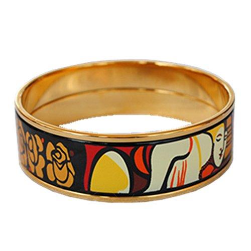enamel-bangle-bracelet-width-20mm-18k-gold-plated-woman-and-rose-inner-diameter-63mm