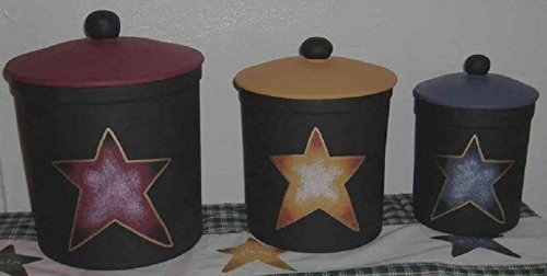 Country Stars Abound Italian Stoneware Canister Set (Chefs Stoneware Canisters compare prices)