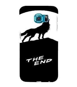PrintVisa Howling Wolf Animal Design 3D Hard Polycarbonate Designer Back Case Cover for Samsung Galaxy S6