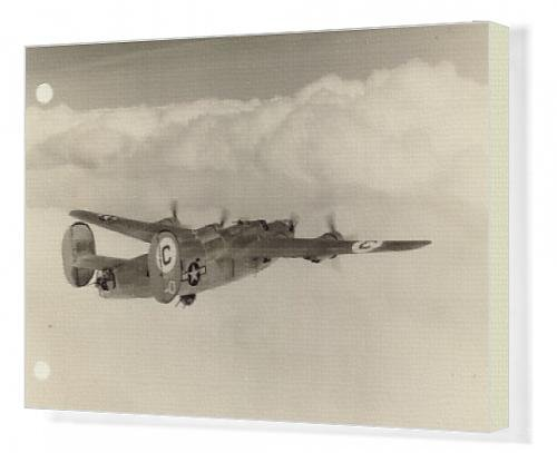 Canvas Artwork of Consolidated B-24J-145-CO Liberator