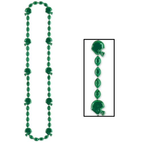 Beistle 50598-G 1-Pack Football Beads for Parties, 36-Inch