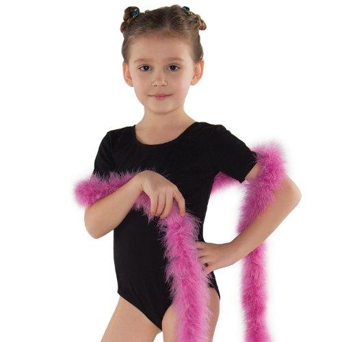Shepa Mädchen Ballett Trikot Kurzarm Gymnastikanzug Ballettanzug Turnanzug