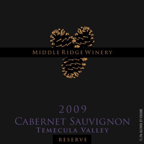 2009 Middle Ridge Winery Reserve Cabernet Sauvignon Temecula Valley 750 Ml