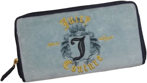 Juicy Couture Zip Clutch Wallet Washed Blue