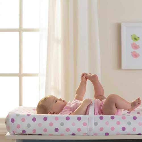 BreathableBaby Changing Pad Cover, Pink Mist Dot