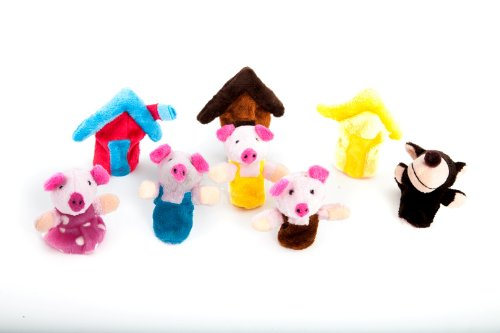 iecool The Three Little Pigs Fairy Tale Finger Puppets - 1