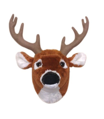 """12"""" Buckley The Whitetail Deer Head Plush Stuffed Animal Walltoy Wall Mount front-436753"""