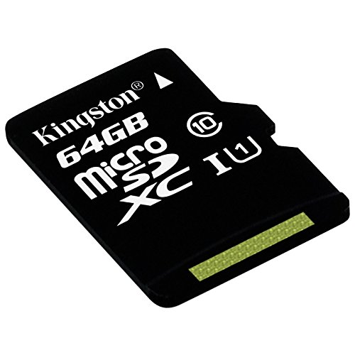 Kingston SDC10G2/64GB - Tarjeta microSD de 64GB (clase 10 UHS-I 45MB/s) con adaptador SD