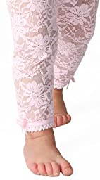 Baby Emporio - Baby Girl Lacy Leggings (6-12 months, Pink)