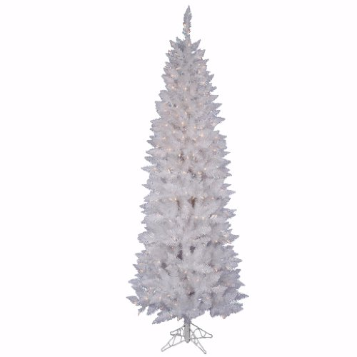 Vickerman 6 Foot Crystal White Pencil 180LED Christmas Tree