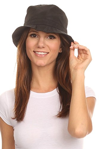 LL Black Mens Packable Bucket Rain Hat Ladies Lightweight Comfortable Large (Bucket Hat Rain compare prices)