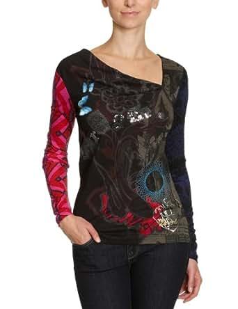 Desigual - T-Shirt - Femme - Noir-Tr-H1-40 -XL