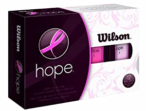 Wilson Hope 12 Ball Ladies Golf Balls (Pink/Hot Pink)