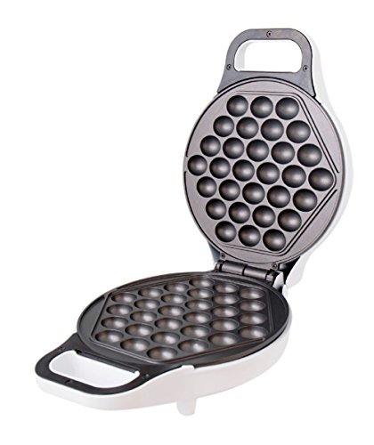 Hong Kong Egg Waffle Maker by StarBlue - White - Make Hong Kong Style Bubble Egg Waffle in 5 minutes (Pan Waffles compare prices)