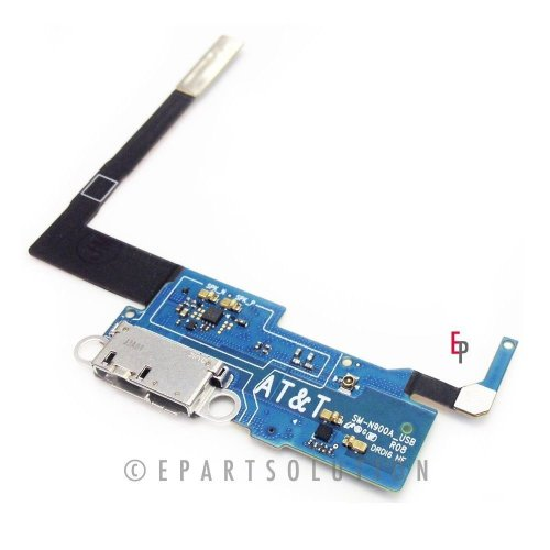 Epartsolution-Samsung Galaxy Note 3 N900A Charger Charging Port Flex Cable Dock Connector Usb Port With Mic Microphone Flex Cable Repair Part Usa Seller