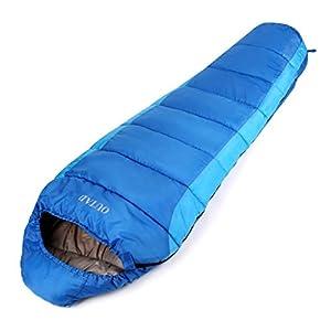 OUTAD Saco De Dormir Momia Impermeable hasta -10 ° 210T Nylon 4 Estaciones Color Azul
