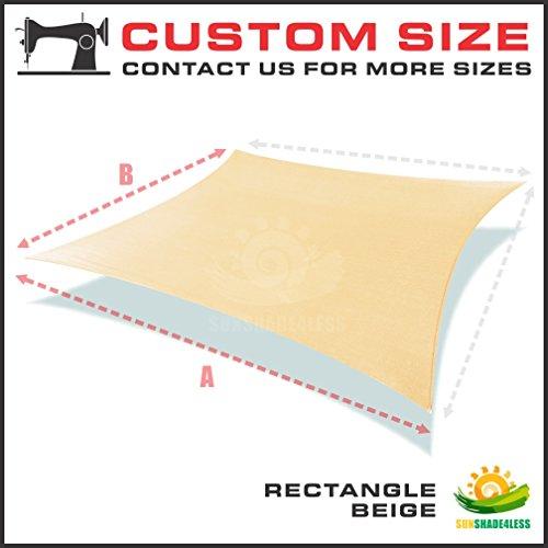 Sun Shade Sail Custom Size Order to Make Rectangle Beige (10' x 14') (Sun Shade Sail 14 compare prices)