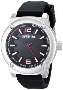 buy Kenneth Cole Reaction Unisex Rk1384 Street Fashion Analog Display Japanese Quartz Black Watch