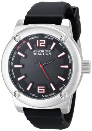 Kenneth Cole Reaction Unisex Rk1384 Street Fashion Analog Display Japanese Quartz Black Watch front-788180