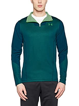Under Armour Camiseta Manga Larga Ua Cgi Raid Fitted 1/4 Zip (Verde)