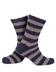 Striped Cosy Slipper Socks