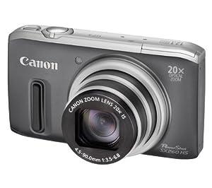 Canon Powershot SX260 HS GPS Digital Camera -  Grey (12.1 MP, 20x Optical Zoom) 3.0 Inch LCD
