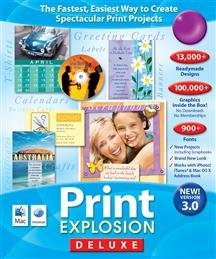 PRINT EXPLOSION DELUXE3.0 (SOFTWARE - PRODUCTIVITY)