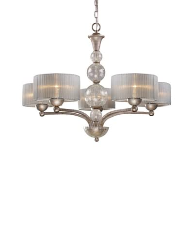 Artistic Lighting Alexis 5-Light Chandelier, Antique Silver